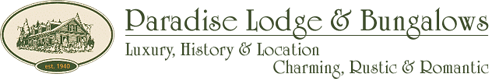 Paradise Lodge & Bungalows Logo
