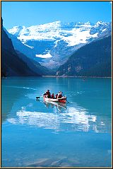 Canoe on Lake Louise